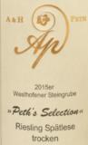 A & H Peth Riesling Spätlese trocken 'Westhofener Steingrube' 2018_9