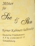 A & H Peth Kerner Kabinett Halbtrocken 'für Sie & Ihn' 2016_8