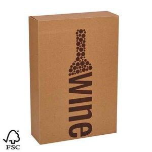 """Wijndoos 2 fles karton """"wine"""""""